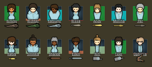 Rimworld - Show Draftees Weapon