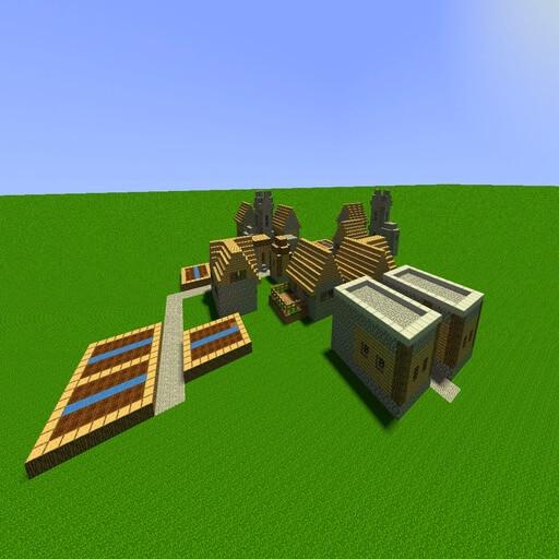 Garry's Mod - Деревня из Minecraft