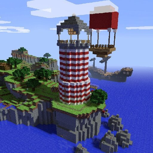 Garry's Mod - Карта ttt_minecraft_b5_fish_n_ships