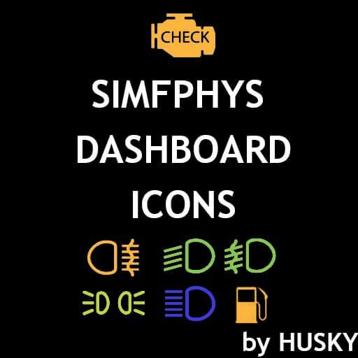 Garry's Mod - Иконки приборной панели (Simfphys)