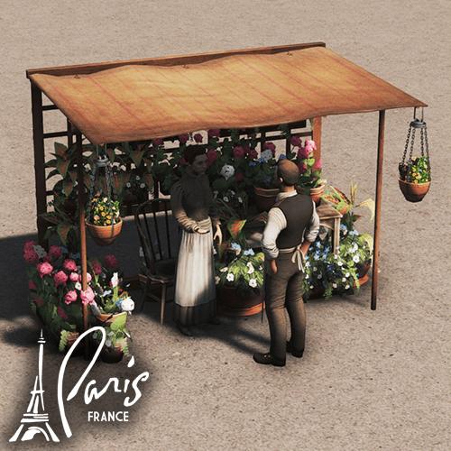 Cities: Skylines - Рынок цветов (Париж)