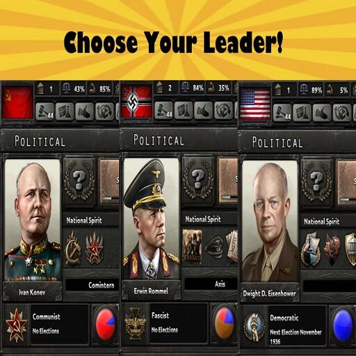 Hearts of Iron IV - Выбери своего лидера / Choose your leader
