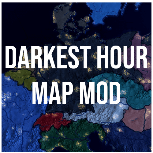 Hearts of Iron IV - Графика карты из Darkest Hour