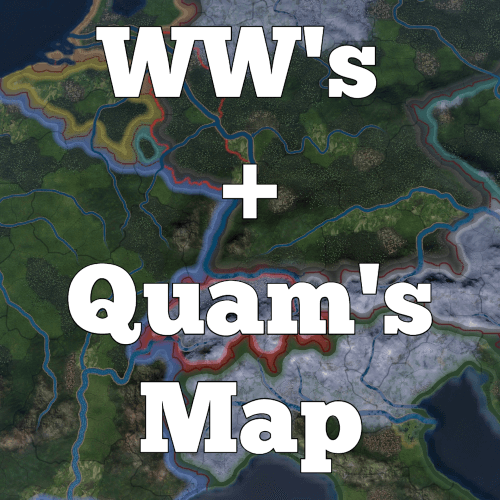 Hearts of Iron IV - WW's + Quam's Map