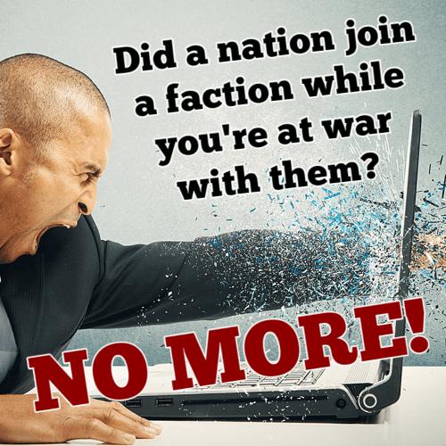Hearts of Iron IV - Нет присоединениям во фракции во время войн!