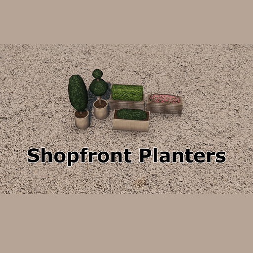 Cities: Skylines - Shopfront Planters