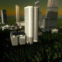 "Cities: Skylines - Небоскрёб ""Coeur Defense"" [RICO]"