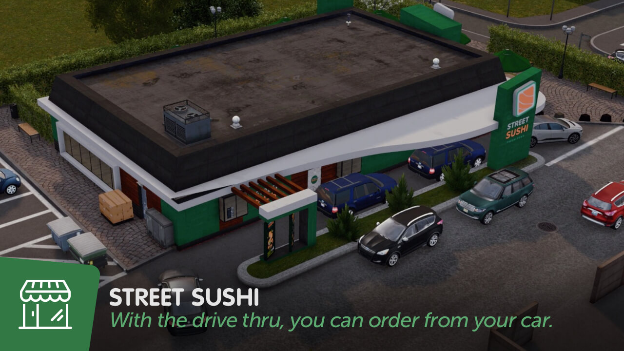 Cities: Skylines - Уличные суши