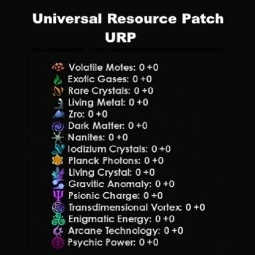 Stellaris - Universal Resource Patch