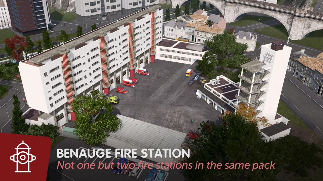 Cities: Skylines - Пожарная станция La Bénauge