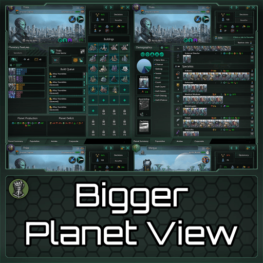 Stellaris - Bigger Planet View