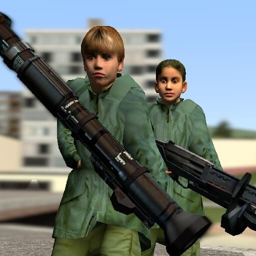 Garry's Mod - Дети-рабочие из беты Half-Life 2