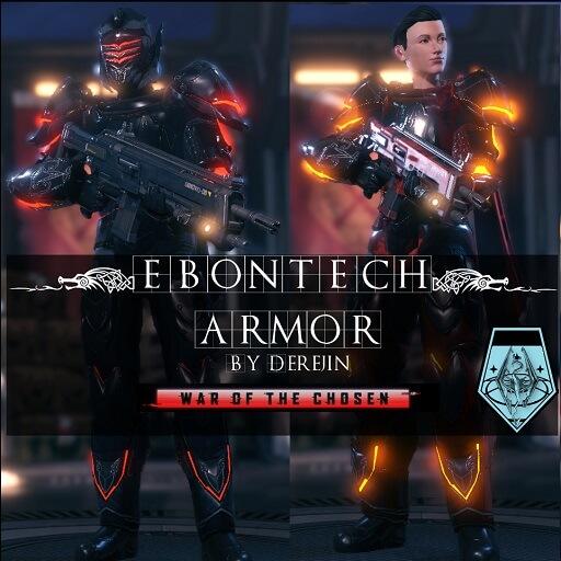 XCOM 2 - Ebontech Armor (+ WotC)