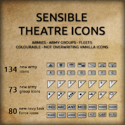 Hearts of Iron IV - Sensible Theatre Icons