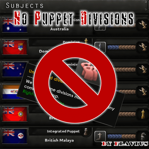 Hearts of Iron IV - No Puppet Divisions