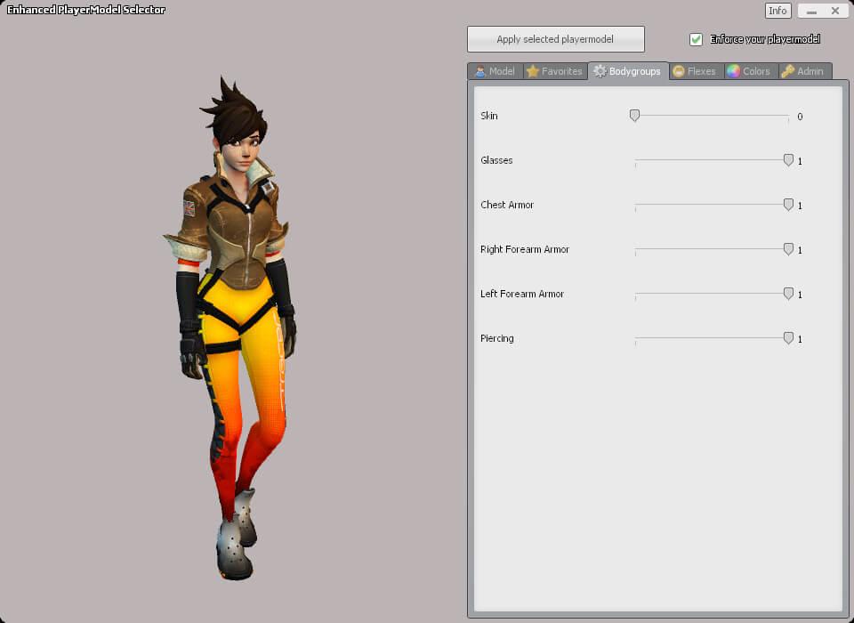 Garry's Mod - Трейсер из OW (игровая модель и рэгдолл)