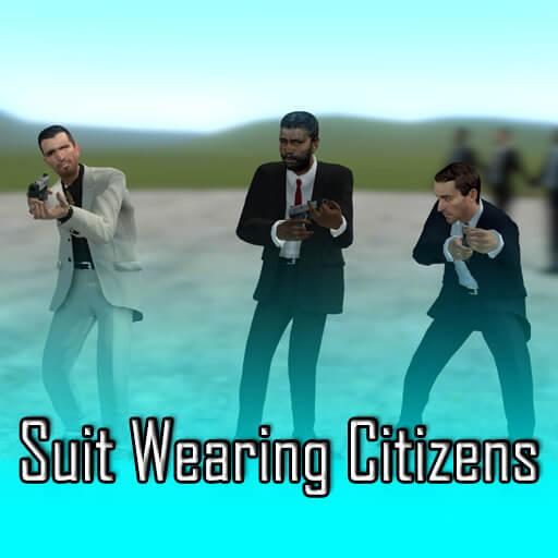 Garry's Mod - Гражданские в костюмах (рэгдоллы)