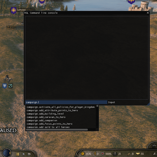 Mount & Blade 2: Bannerlord - Консоль разработчика / Developer Console
