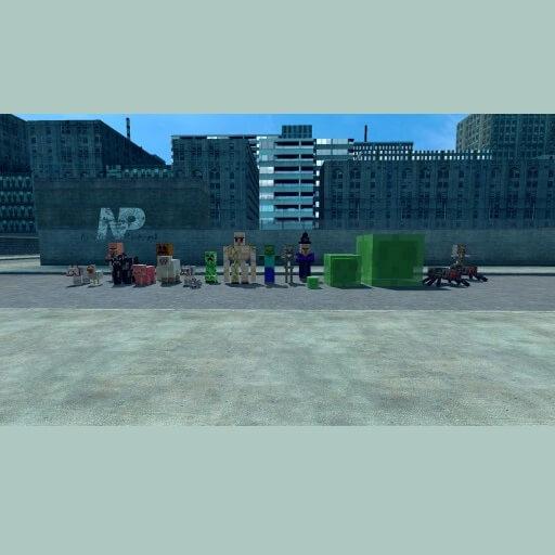 Garry's Mod - SNPCs из Minecraft