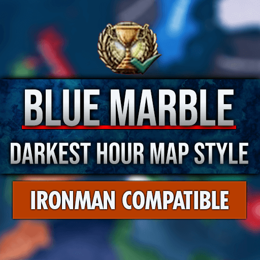 Hearts of Iron IV - Blue Marble - The Darkest Hour Map Style