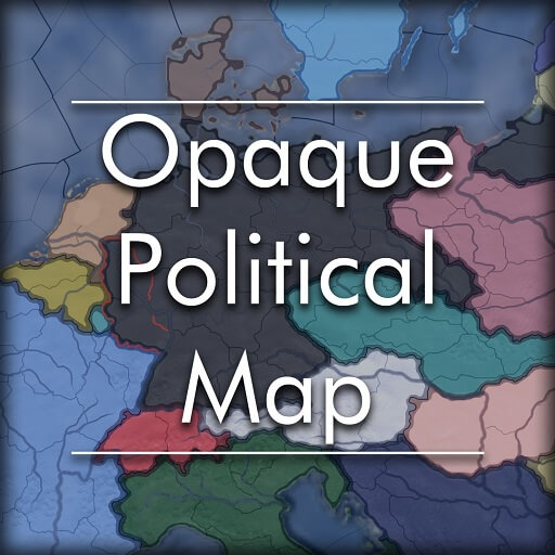 Hearts of Iron IV - Opaque Political Map